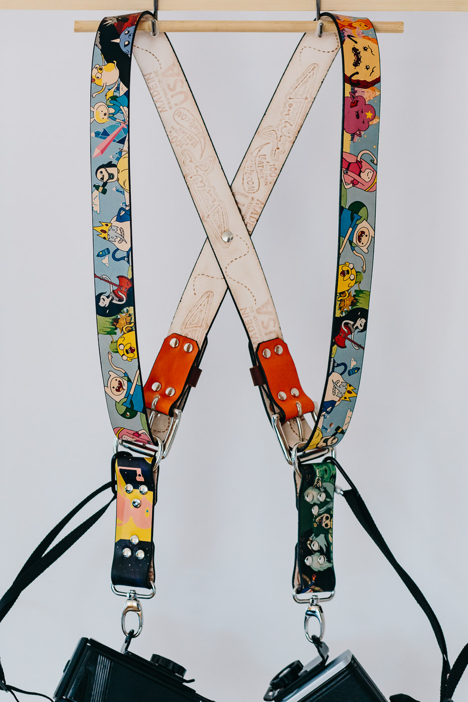 Gunslinger Dual Camera Harness Strap Sling Leather Funky Adventure Time Cartoon 9